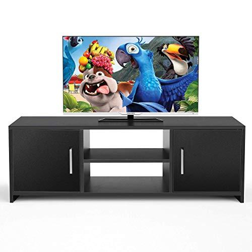 Homfa Fernsehtisch TV Lowboard Tisch TV Möbel TV Schrank TV Board Fernsehschrank Holz 110x35x36cm