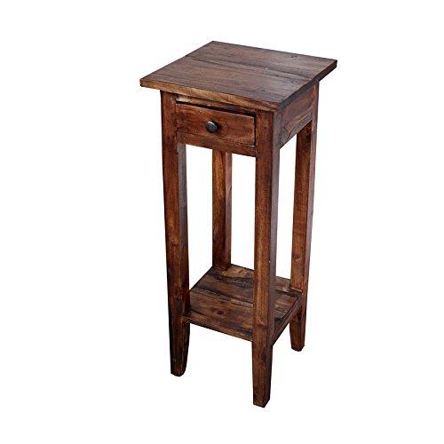 Invicta Interior Antiker Telefontisch HEMINGWAY Mahagoni Shabby Chic Coffee Beistelltisch Massivholz Telefontisch Holztisch