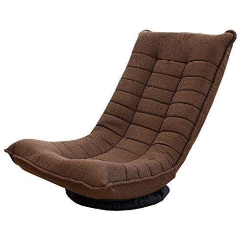 JH Tatami Moon Chair Drehsessel Klappliege Lounger Lässiger Easy Lunch Chair Drehstuhl, 360 Grad, 120 Grad Hoher Winkel