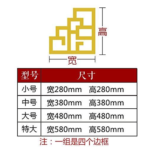 JWQT Chinesische Grenze dreidimensionale Acryl spiegel Wand Wand-TV Wohnwand Grenze moderne chinesische Wohnzimmer Eingang Aufkleber