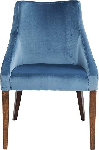 Kare Design Stuhl Mode Velvet Petrol, Lehnstuhl, eleganter Esszimmerstuhl in Samt, weicher Polsterstuhl, (HxBxT) 87x60x70cm