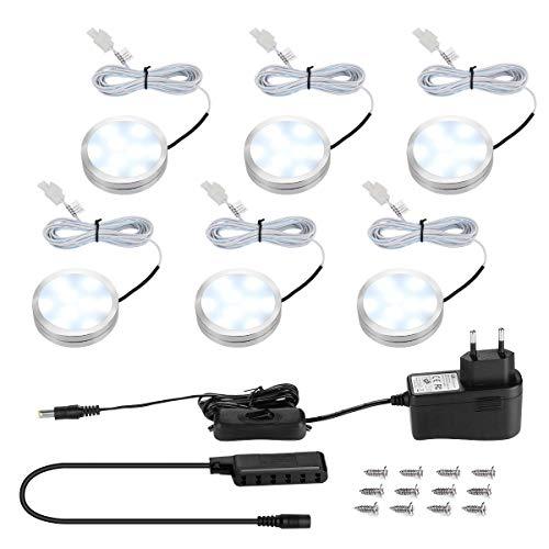 LE Schrankleuchten LED Unterbauleuchte Set, Inklusiv alle Zubehör, 120° Abstrahlwinkel, LED Lichtleiste, Küchenlampen, Vitrinenbeleuchtung