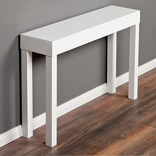 LEBENSwohnART Konsolentisch LINO-A ca. 100x68cm (LxH) Weiß Konsole Flurtisch Beistelltisch