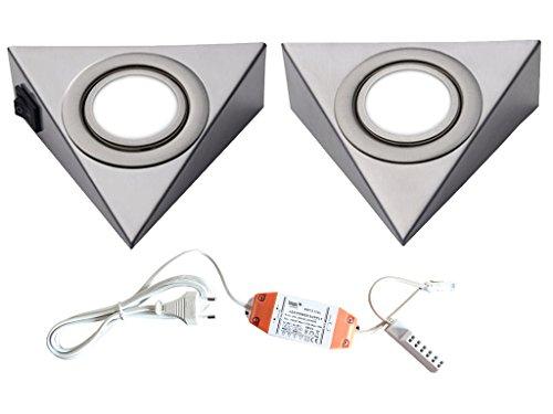LED Unterbauleuchte Pira Dreieckstrahler 2er - 5er Set Küchen- und Vitrinenleuchte Vitrinenlampe neutralweiß Anbauleuchte Anbaulampe Beleuchtung Küchenleuchte Küchenlampe Unterbaulampe Unterbau Möblelleuchte