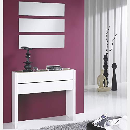 M-020 CorFOU 2 Türkommode, modern, Weiß und Farbe helles Holz
