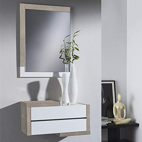M-020 Loxor 2 Türkommode, modernes Design, helles Holz, Weiß