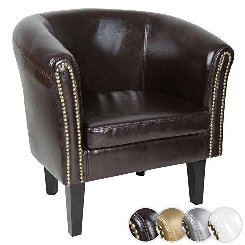 MIADOMODO Chesterfield Sessel aus Kunstleder und Holz | Bequem, mit Zierknöpfen, in verschiedenen Farben und als Set verfügbar | Lounge Sessel, Clubsessel, Armsessel, Wohnzimmer Möbel
