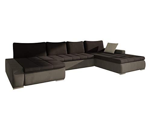 Mirjan24  Ecksofa Caro, Elegante U-Form Couch, Eckcouch mit Bettkasten und Schlaffunktion, Polsterecke, Couchgarnitur, Farbauswahl, Bettsofa für Wohnzimmer Wohnlandschaft