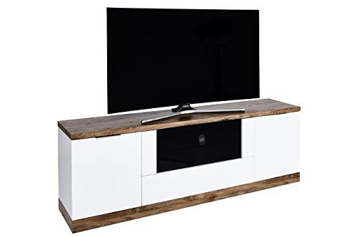 """Movian TV Sideboard für Fernseher bis 80"""", Weiß/Varadero-Eiche Optik"""