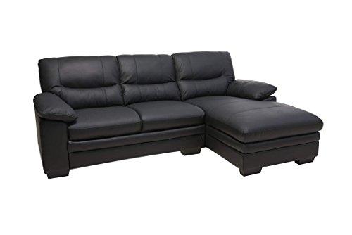 PKLine Sofa MOSH in schwarz Couch Couchgarnitur Wohnlandschaft Ledercouch