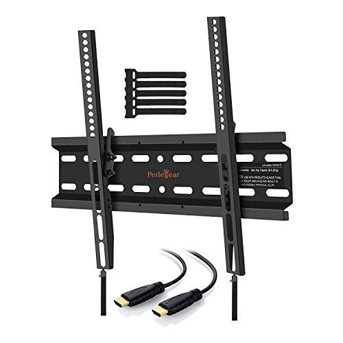Perlegear TV Halterung für 23-55 Zoll (58-140cm) Flach&Curved Fernseher oder Monitor bis zu 45kg, max.VESA 400x400mm
