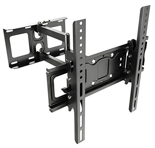 RICOO TV Wandhalterung Schwenkbar Neigbar S6144 Universal LCD Wandhalter Fernsehhalterung Ausziehbar Fernseher Halterung für Flachbildfernseher 76cm/30-140cm/55 Zoll/VESA 200x200 400x400 / Schwarz