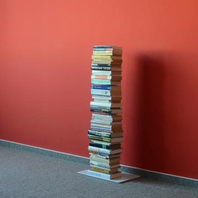 Radius Design booksbaum Single Stand klein weiß, 3tlg. Best.aus: Halterung + Fuß + Einlegeböden [W]