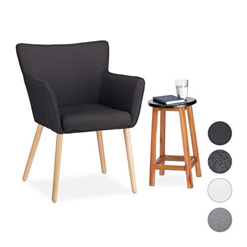 Relaxdays Polstersessel Design, Stoffbezug, weich gepolstert, bequem, Sessel, HxBxT 84 x 62 x 56 cm