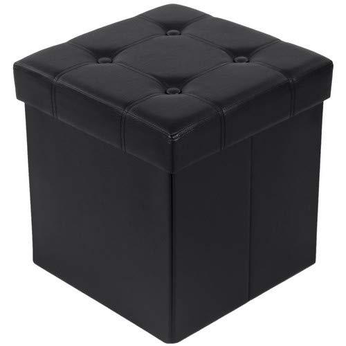 SONGMICS Faltbarer Sitzhocker Sitzwürfel Aufbewahrungsbox 38 x 38 x 38 cm bis 300 kg belastbar