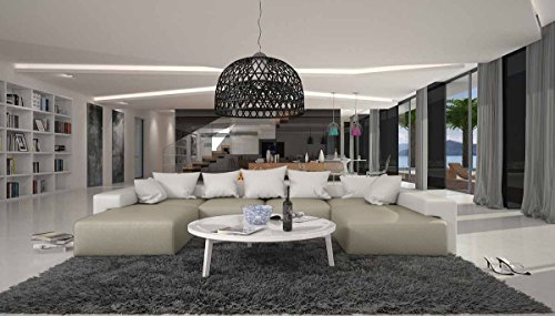 SalesFever Moderne Sofa-Garnitur in U-Form 405x255 cm Leesha