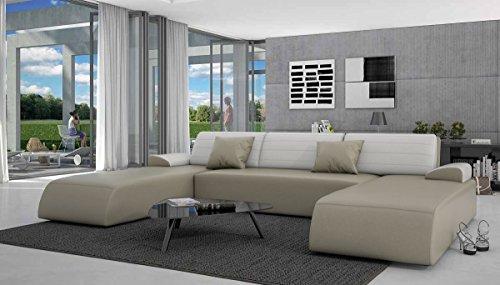 SalesFever Wohnlandschaft mit Schlaffunktion 310x212 cm Lavia - U-Form