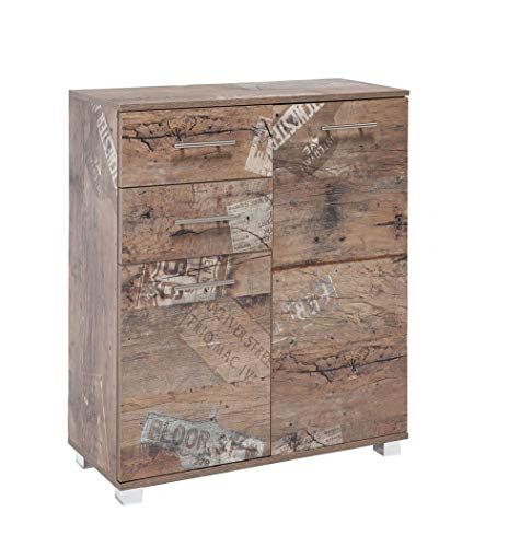 Schildmeyer 125631 Highboard, Eiche Antik Dekor