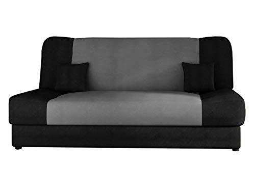 Schlafsofa Jonas, Sofa mit Bettkasten und Schlaffunktion, Bettsofa, Dauerschläfer-Sofa, Schlafcouch, Materialmix, Couch vom Hersteller, Wohnlandschaft