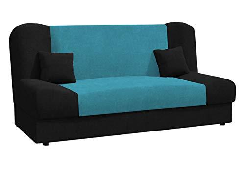 Schlafsofa Jonas Style, Sofa mit Bettkasten und Schlaffunktion, Bettsofa, Schlafcouch, Microfaser, Couch vom Hersteller, Wohnlandschaft