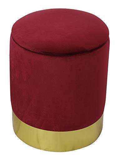 Sitzhocker Luxus Polsterhocker Design Möbel Samt Velour Pouf Sitzhocker Recarniere mit Stauraum Ottomane, weicher Samt ( Deckel abnehmbar ) Ø 31cm x H. 38 versch. Farben 5 Jahre Durchwetzgarantie*