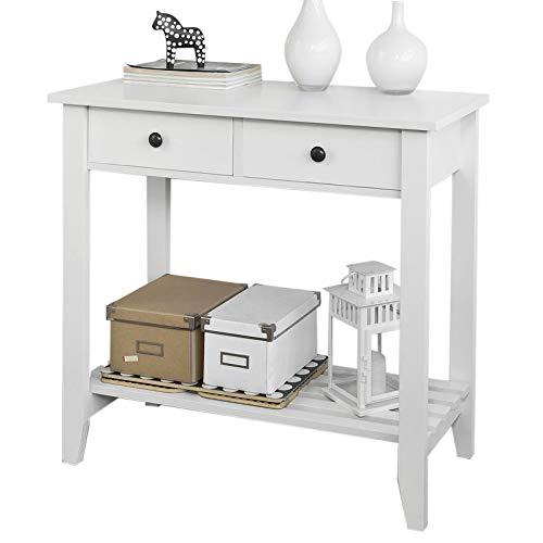 SoBuy® Konsolentisch,Flurschrank, Sideboard, Beistelltisch, Küchenschrank,85X40X80cm, weiß, FSB04-W