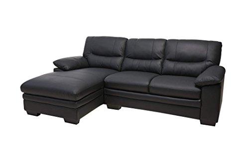 Sofa MOSH in schwarz Couch Couchgarnitur Wohnlandschaft Ledercouch