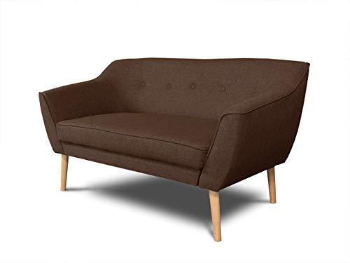 Sofa Scandi 2-Sitzer, Scandinavian Design Kollektion, Holzfüße, Couch 2-er, Couchgarnitur, Sofagarnitur, Polstersofa - Wohnzimmer
