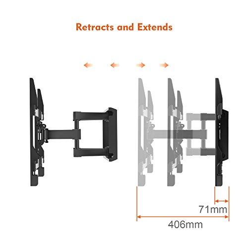 TV Wandhalterung Schwenkbar Neigbar max.VESA 600x400mm für 37 - 70 Zoll (94 - 178cm) LED LCD Plasma Flach & Curved Fernseher oder Monitor bis zu 60kg