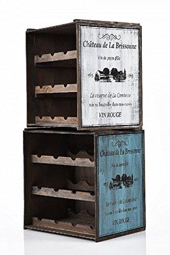 Unbekannt Weinregal Regal Weinschrank Weinständer Weinlager Vintage 271/2 Küchenregal stapelbar