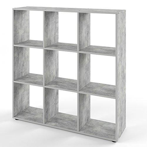 VICCO Bücherregal NOVE 9 Fächer Raumteiler Standregal Aktenregal Aufbewahrung Regal