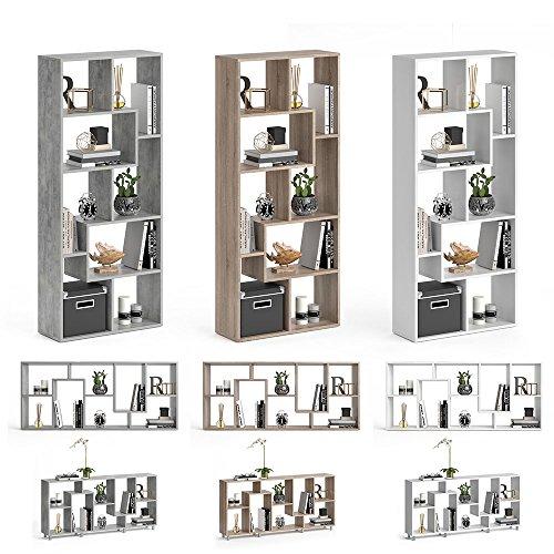 Vicco Raumteiler NOA Bücherregal Standregal Aktenregal Hochregal Aufbewahrung Regal +++Verschiedene Dekore +++