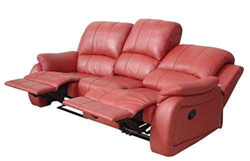 Voll-Leder Schlafcouch Schlafsofa Relaxsofa Fernsehsessel 5129-3-206