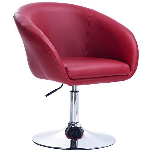 WOLTU® Barsessel 1er Set, stufenlose Höhenverstellung, verchromter Stahl, Kunstleder, gut gepolsterte Sitzfläche mit Armlehne und Rücklehne #825
