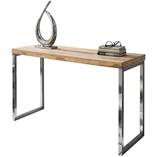 Wohnling Exklusiver Massivholz Konsolentisch 120 x 45 x 76 cm Tisch Massiv