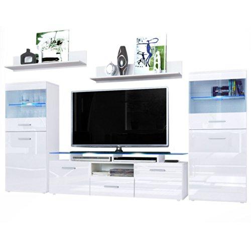 Wohnwand Almada V2 V1 Weiß