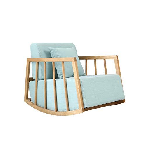 XUE Schaukelstuhl, bequem, modern, Lazy Relax-Sofa, neigbar, für Erwachsene, Stoff aus Massivholz, Freizeit, Schaukelstuhl, Sieste, Balkon, Stuhl für Terrasse, Rasen & Garten