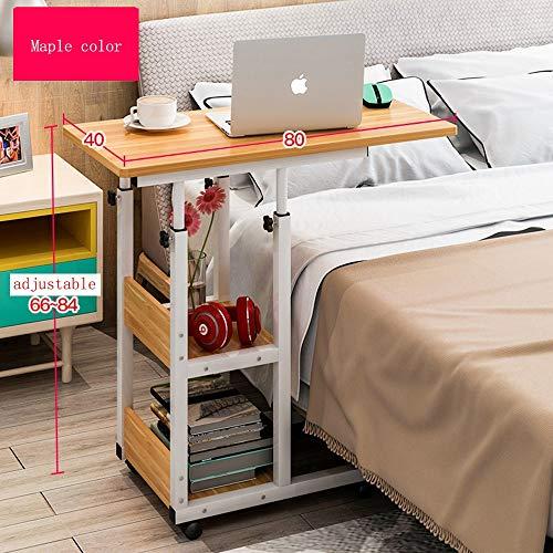 Zhuozi FUFU Tische Höhenverstellbarer Betttisch mit Mehreren Funktionen, Sofatisch, Couchtisch, Laptop-Wagen 4 Farben Drop-Blatt-Tabelle