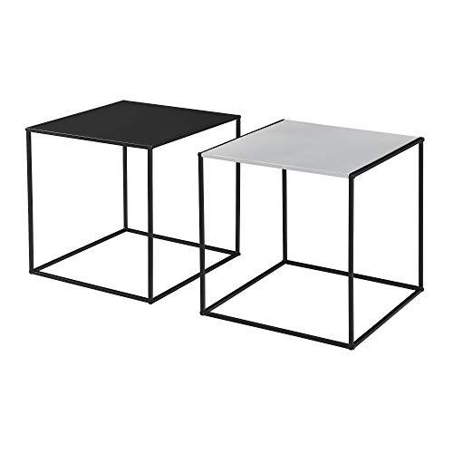 [en.casa] 2X Couchtisch Beistelltisch Wohnzimmertisch Tisch Kaffeetisch Set