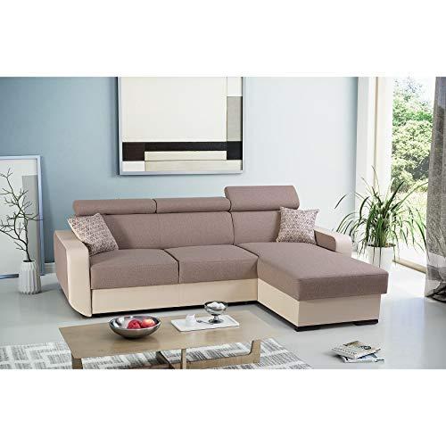 mb-moebel Ecksofa mit Schlaffunktion Eckcouch mit Bettkasten Sofa Couch Wohnlandschaft L-Form Polsterecke Pedro