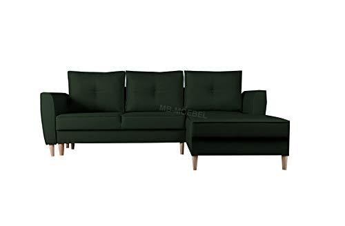 mb-moebel Ecksofa mit Schlaffunktion Eckcouch mit Zwei Bettkasten Sofa Couch Wohnlandschaft L-Form Polsterecke Theo