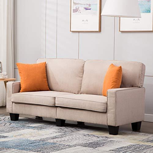 mecor 2-Sitzer-Sofa Leinensofa Wohnzimmermöbel für Wohnzimmer mit bequem weich Leinenstoff solide Konstruction