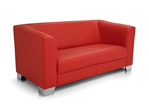 moebel-eins Chicago 2-Sitzer Sofa, Material Kunstleder