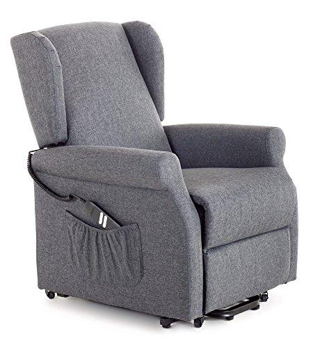 my living Sessel Relax Elektrische Lift mit Aufstehhilfe 2Motoren in Stoff Sieg blau