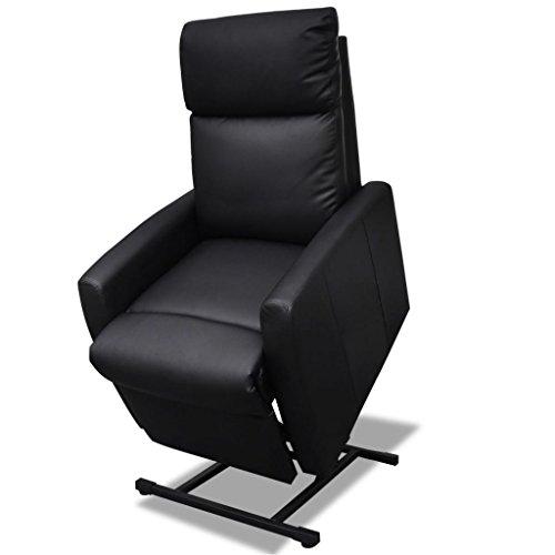 vidaXL Fernsehsessel Elektrisch Aufstehsessel Relaxsessel Sessel Schwarz/Weiß