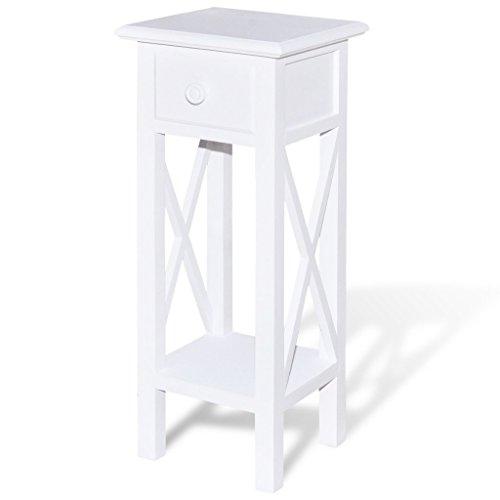 vidaXL Konsolentisch mit Schublade Weiß Beistelltisch Flurtisch Telefontisch