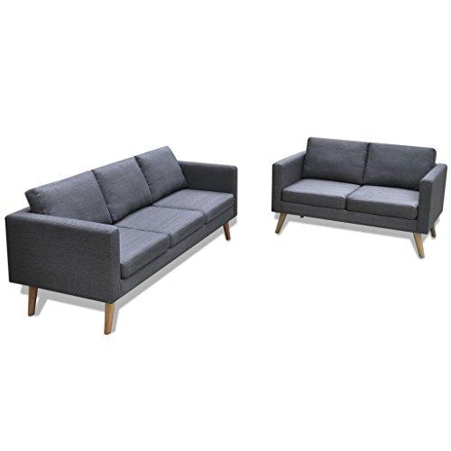 vidaXL Sofa Polstersofa 2/3/5 Sitzer Stoffsofa Loungesofa Couch Holz Design Sitzmöbel