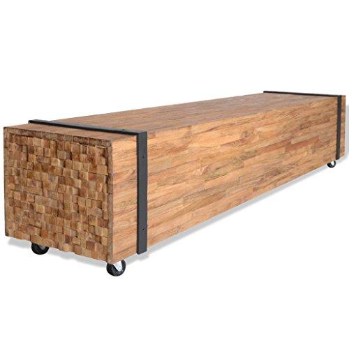 vidaXL Teak TV Schrank Fernsehtisch Lowboard Sideboard TV Board 150x30x30 cm