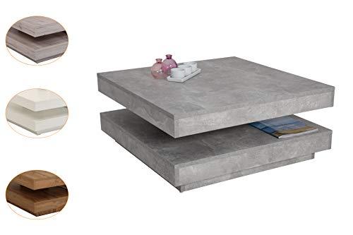 Apollo Couchtisch Ben, Holz, drehbar 360°, 78 x 78 x 34 cm