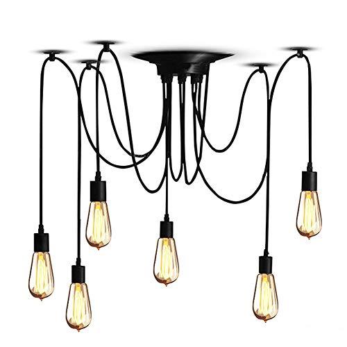 Cocoarm Spinne Kronleuchter DIY Decke Spider Lampe Retro Industry Ceiling Light DYI Vintage Pendelleuchte Speisesaal Schlafzimmer Hotel Dekoration